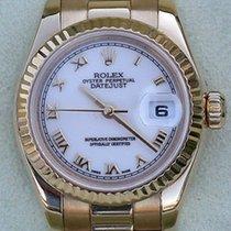 Rolex President Ladies 18k Gold Model 179178 White Dial Gold...
