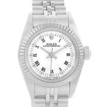 Rolex Nondate Ladies Steel 18k White Gold Roman Dial Watch 67194