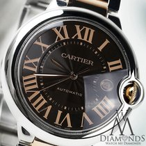 Cartier Ballon Blue 42mm W6920032 Stainless Steel And 18k Rose...