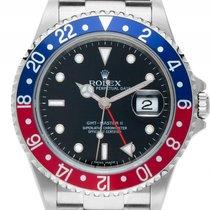 Rolex GMT Master II rot blau Pepsi Stick Dial Stahl Automatik...