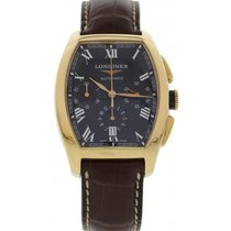 Longines Men's Longines Evidenza 18k Rose Gold Chronograph...