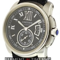 Cartier Calibre Collection Calibre Stainless Steel Black Dial...