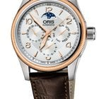 Oris Big Crown Complication, Day, Moon Phase, Rose Gold, Lth
