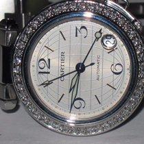 Cartier Pasha 36mm Automatic GMT Dual Time Diamonds