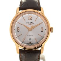 Vulcain 50s Presidents'Classic 42 Pink Gold Silver-toned Dial