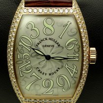 Franck Muller Crazy Hours, 18 kt pink gold, diamonds set, full...