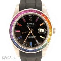 Rolex Datejust II 116300 Stahl Aftermarket Rainbow Lünette + Dial