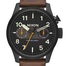 Nixon A977-2344 Safari Deluxe Leather Multif. Herren 43mm 10ATM
