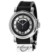 Breguet Marine Automatic Black Dial  Black Rubber 39mm  T