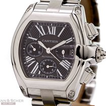 Cartier Roadster Chronograph Ref-W62020X6 Stainless Steel Box...