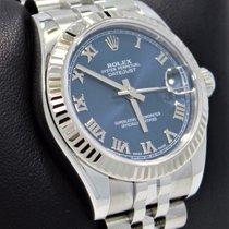 Rolex Datejust 31mm 178274 18k W Gold Bezel Jubilee Blue Dial...