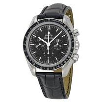 Omega Speedmaster Professional Moonwatch Black Leather Mens...