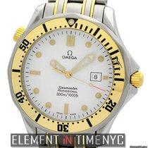 Omega Seamaster 300 M Quartz Steel & 18k Yellow Gold White...