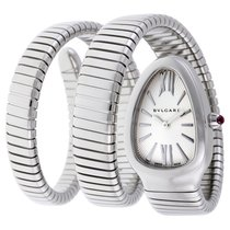 Bulgari Serpenti Tubogas Silver Opaline Dial Quartz Ladies Watch