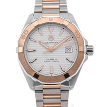 TAG Heuer Aquaracer Automatic 40,5 Silver Dial Red Gold Details