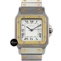 Cartier santos steel and gold automatic men size