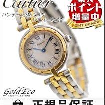 Cartier 【カルティエ】  パンテールSM 2ロウ レディース腕時計【中古】  アイボリー文字盤 K18YG/SS...