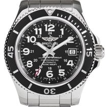 Breitling Superocean II 42 Black Dial Steel Auto Men Watch...