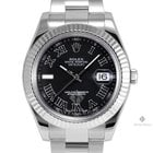 Rolex Datejust II Stainless Steel Black Roman Numeral Dial...