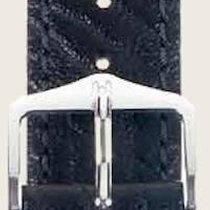 Hirsch Uhrenarmband Leder Highland schwarz L 04302050-2-19 19mm