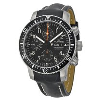 Fortis Cosmonauts Chronograph Automatic Black Dial Black...