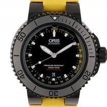 Oris Aquis Depth Gauge Black Stahl Automatik Armband Kautschuk...