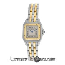 Cartier Ladies  Panthere 1120 Two Row Stainless Steel 22mm Quartz