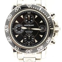Montblanc 7034 Automatic Sport Chronograph With Black Dial...