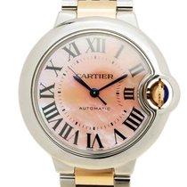 Cartier Ballon Bleu Stainless Steel Pink Automatic W6920098