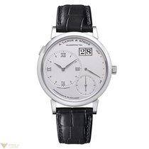 A. Lange & Söhne A  Grand Lange 1 Platinum Black Leather...