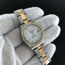 Rolex Datejust Two Tone 69163 Diamond Mother of Pearl Dial...