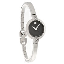 Movado Bela Diamond Ladies Stainless Steel Swiss Quartz Watch...