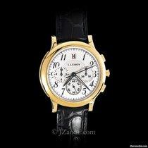 L.Leroy Men's Watch Osmior 18K Yellow Gold Chronograph