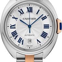Cartier CLÉ DE CARTIER 40 mm oro rosa/acciaio W2CL0002 T