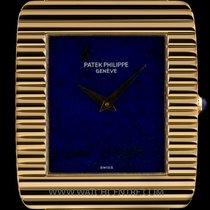 Patek Philippe 18k Y/G Very Rare Lapis Lazuli Dial Ribbed Case...