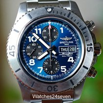 Breitling Superocean Chronograph Steelfish Calendar Blue Dial...