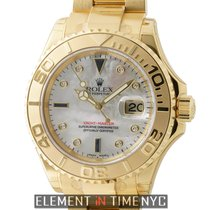 Rolex Yacht-Master 18k Yellow Gold Mother Of Pearl Serti...