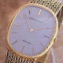 Audemars Piguet Mens Automatic Large Ellipse 18k Gold Swiss...
