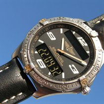 Breitling Aerospace Titan Gold F65362 With Paper From 08/2000...