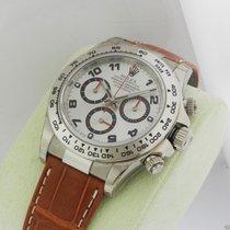 Rolex Daytona 116519 Silver Arabic 18kt White Gold Strap