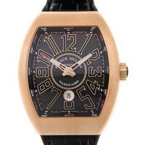 Franck Muller New  Vanguard 18k Pink Gold Black Automatic V 45...
