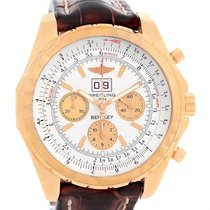 Breitling Bentley 6.75 18k Rose Gold Chronograph Le Watch H44363