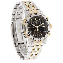 Tissot Prs200 Mens Two Tone Swiss Chronograph Watch T17.2.486.55