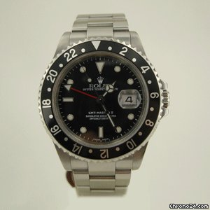 Rolex GMT MASTER STEEL BLACK BEZEL