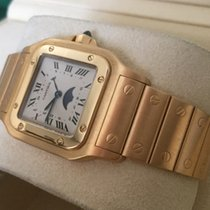 Cartier Santos Galbee Moonphase Large Yellow Gold 18 krt 40 x ...