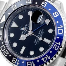 Rolex SS Ceramic GMT Master ll Black & Blue Insert 116710...