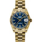 Rolex Datejust Ladies Midsize 178278-BLUSFP Blue Index Yellow...