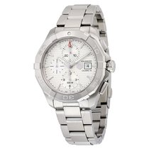 TAG Heuer Aquaracer Chronograph Automatic Silver Dial Stainles...