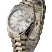 Rolex Unworn 178279 Mid Size President in White Gold with...
