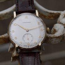 Longines 9ct Solid Gold Vintage sub seconds Longine bubble...